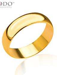 Homens Feminino Casal Anéis Grossos bijuterias Chapeado Dourado Jóias Para Casamento Festa Diário Casual Esportes