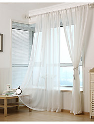 cheap -Sheer Curtains Shades Living Room Solid Colored Stripe Cartoon Curve Geometic Polyester Print & Jacquard