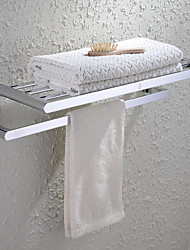 Towel Bar Bathroom Shelf / Chrome Brass /Contemporary