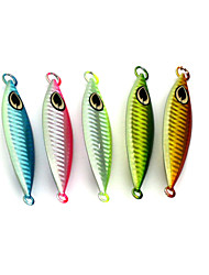 5pcs Hengjia Metal Lead Hard Baits 8.8CM 40G Fishing Lures Random Colors