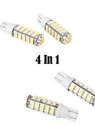 Недорогие -4 в 1 t10 5w 168 автомобилей высокой мощности белый 68 SMD LED клина светильника электрической лампочки (DC 12V)