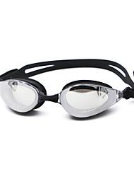 Недорогие -плавательные очки Противо-туманное покрытие По предписанию врача Зеркальный силикагель Поликарбонат черный синий Темно-синий черный синий Темно-синий