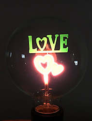 E26/E27 Luz de Decoração B 2 leds COB Decorativa Vermelho 100lm 3000K AC 220-240V