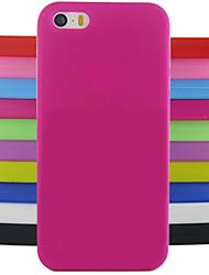 economico -Protezione gelatina di colore solido posteriore del silicone modello di progettazione della copertura di caso per il iphone 5 / 5s (colori