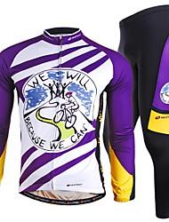 Nuckily Calça com Camisa para Ciclismo Homens Manga Longa Moto braço aquecedores Conjuntos de Roupas Secagem Rápida A Prova de Vento