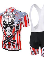 billige -XINTOWN Kortærmet Cykeltrøje og shorts med seler Cykel Shorts med seler Trøje Tøjsæt, Hurtigtørrende, Ultraviolet Resistent, Åndbart,