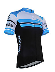 cheap -XINTOWN Men's Short Sleeves Cycling Jersey with Shorts - Black/Blue Bike Shorts Jersey Clothing Suits, Quick Dry, Anatomic Design,