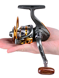 cheap -Mini Metal Fishing Spinning Reel ,12+1 Ball Bearing Gear Rate 5.2:1 Interchangeable Handle