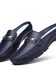 cheap -Men's Shoes Wedding/Office & Career/Party & Evening/Athletic/Dress/Casual Nappa Leather Loafers Blue/Brown/White