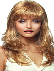 Women Synthetic Wig Capless Medium Curly Blonde Halloween Wig Carnival Wig Costume Wigs