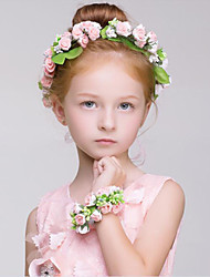 Flower Girl's Fabric / Plastic Headpiece - Wedding / Special Occasion / Outdoor Wreaths / Garland