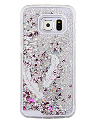cheap -The Swallow Feathers Pattern Sparkle Stars Quicksand Liquid PC Hard Phone Case for Samsung Galaxy S4/S5/S6/S6 Edge