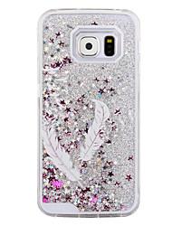preiswerte -Für Samsung Galaxy Hülle Mit Flüssigkeit befüllt Hülle Rückseitenabdeckung Hülle Feder PC Samsung S6 edge / S6 / S5 / S4