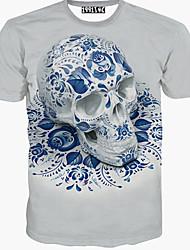 Herren T-shirt-Druck Freizeit Baumwolle Kurz-Tierdruck