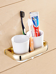 Toothbrush Holder Bathroom Gadget / Ti-PVD Brass /Neoclassical