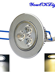 cheap -YouOKLight 300 lm LED Ceiling Lights 3 leds High Power LED Dimmable Decorative Warm White Cold White AC 110-130V AC 220-240V