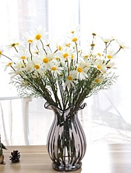 10 Branch Lifelike Slap-Up Silk Chrysanthemum Artificial Flower(5 Heads/Branch)