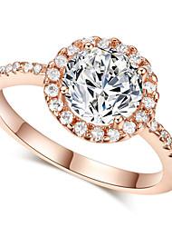 baratos -Maxi anel Cristal imitação de diamante Liga Moda Clássico Prata Dourado Jóias Casamento Festa 1peça