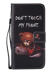 billiga -fodral Till Samsung Galaxy Samsung Galaxy S7 Edge Plånbok / Korthållare / med stativ Fodral Tecknat PU läder för S7 edge / S7