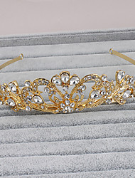 cheap -Rhinestone Tiaras Headpiece Wedding Party Elegant Feminine Style