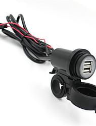 baratos -motocicleta iztoss 12v-24v adaptador usb carregador de telefone à prova d'água dupla usb 2.1a