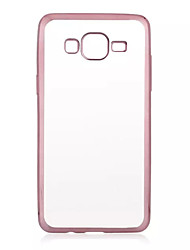 economico -Per Samsung Galaxy Custodia Placcato / Transparente Custodia Custodia posteriore Custodia Tinta unita TPU Samsung J7 / J5 / Grand Prime