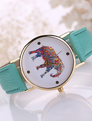 cheap -Women's Elephant Case Leather Band Analog Quartz Fashion Watch Jewelry Cool Watches Unique Watches