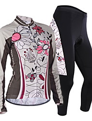 cheap -Nuckily Cycling Jersey with Tights Women's Long Sleeves Bike Jersey Clothing Suits Windproof Anatomic Design Moisture Permeability Front