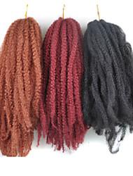 baratos -Cabelo para Trançar Afro / Tranças de caixa Afro Kinky Tranças 100% cabelo kanekalon / Kanikalon 30 raízes / pacote Tranças de cabelo