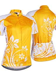 Nuckily Cycling Jersey Women's Short Sleeves Bike Jersey Top Ultraviolet Resistant Moisture Permeability Water Bottle Pocket Wearable