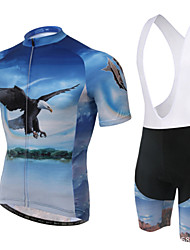 XINTOWN Cycling Jersey with Bib Shorts Men's Women's Unisex Short Sleeves Bike Padded Shorts/Chamois Bib Tights Jersey Clothing Suits