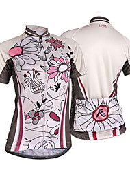Nuckily Cycling Jersey Women's Short Sleeves Bike Jersey Tops Ultraviolet Resistant Moisture Permeability Water Bottle Pocket Wearable