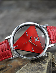cheap -Women's Quartz Wrist Watch Casual Watch Leather Band Charm Fashion Black White Blue Red Pink