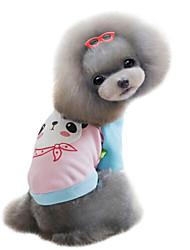 baratos -Cachorro Moletom Roupas para Cães Desenho Animado Amarelo Vermelho Azul Rosa claro Algodão Ocasiões Especiais Para animais de estimação
