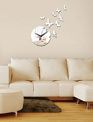 cheap -New Acrylic Mirror Wall Sticker 3d Stickers Home Decor Poster Diy Kitchen Papel De Parede Room Fashion Europe Wall Clock