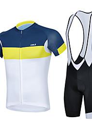 levne -cheji® Cyklodres a kraťasy se šlemi Pánské Krátký rukáv Jezdit na kole Cyklistické šortky Návleky na ruce Dres Sady oblečení