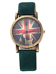 Недорогие -Женские Модные часы Кварцевый PU Группа Винтаж Черный Синий Красный Коричневый Зеленый Фиолетовый Желтый