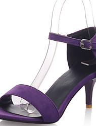 Women's Shoes Kitten Heel Two-Piece / Open Toe Sandals Dress / Casual Black / Green / Purple