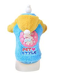abordables -Perro Abrigos Ropa para Perro Azul / Rosa Material Mixto Disfraz Para mascotas Hombre / Mujer Moda