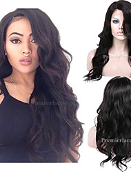 cheap -Human Hair Machine Made / Glueless Full Lace / Glueless Lace Front Wig Brazilian Hair Body Wave Wig 130% / 150% / 180% Natural Hairline / African American Wig / 100% Hand Tied Women's Short / Medium