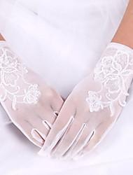economico -guanto da sposa in raso di seta elastico guanto da sposa guanti stile elegante