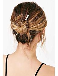 abordables -Femme Alliage Pince à Cheveux Argent Doré