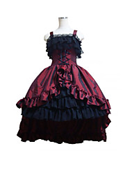 cheap -Gothic Lolita Dress Lolita Satin Women's One Piece Dress Cosplay Sleeveless