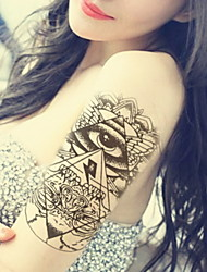 cheap -Angels Glasses  Waterproof Flower Arm Temporary Tattoos Stickers Non Toxic Glitter