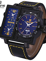 cheap -SKONE® Men's Multi-function Sport Watches Fashion PU Band Quartz Wrist Watches with Complete Calendar Function Jewelry Cool Watch Unique Watch