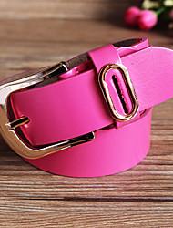Women Calfskin Waist Belt,Casual Alloy All Seasons