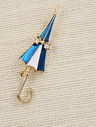 cheap -Fashion  Women Cute Enamel Umbrella Brooch(pack with gift bag)