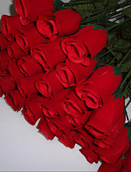 1 Pieces Roses Flowers Silk Flower Artificial Flowers for Wedding home Decoration Flower Kit(Red)