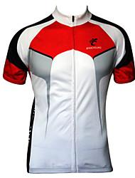 levne -JESOCYCLING Pánské Krátký rukáv Cyklodres - Černá / červená bílá + červená Jezdit na kole Dres, Rychleschnoucí, Odolný vůči UV záření,