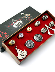 Gioielli Ispirato da Assassin's Creed Cosplay Anime/Videogiochi Accessori Cosplay Collane / Distintivo / Spille / Altri accessori Argento